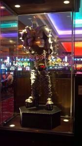 Gene Simmons' KISS costume on display at Seminole Hard Rock Casino in Tampa.