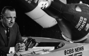 Walter Cronkite, CBS News. NASA photo.